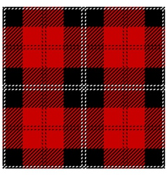 Red scottish seamless tartan plaid vector