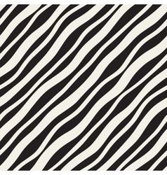 Seamless diagonal wavy lines pattern vector
