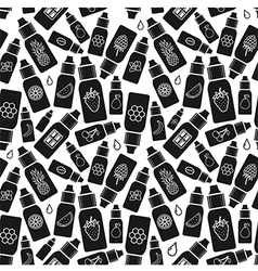 Seamless pattern of e-liquid vector