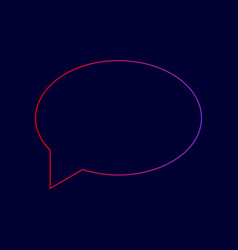 Speech bubble icon line icon with vector