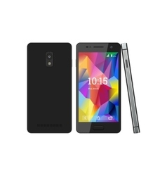 The smartphone with the screen saver vector