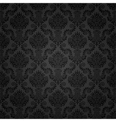 Seamless damask pattern vector