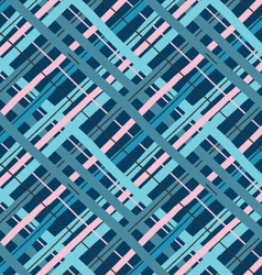 Blue and pink diagonal crossing lines vector