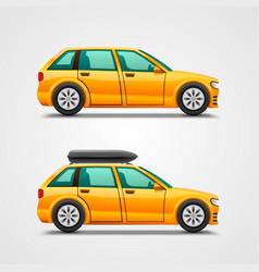 car with the luggage vector image