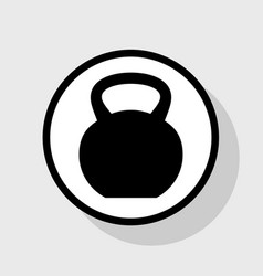 fitness dumbbell sign  flat black icon in vector image