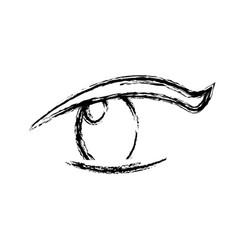 Sketch eye human optical look pupil vector
