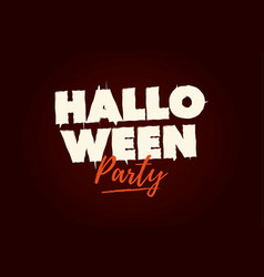 halloween-party-title-logo vector image