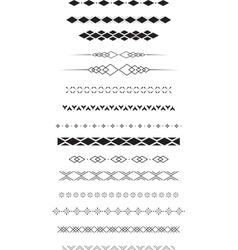 Geometric text dividers vector