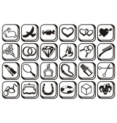 Fashion symbols vector