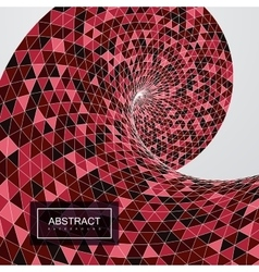 3d abstract polygonal twisted background vector