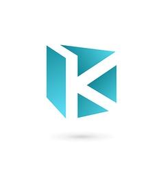 Letter k book logo icon design template elements vector