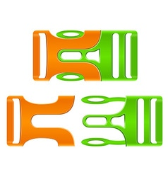 Plastic buckle clasp 02 vector