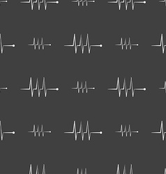 Cardiogram monitoring sign icon heart beats symbol vector
