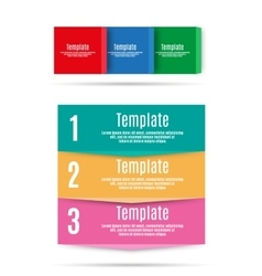 Step by step info graphics template vector