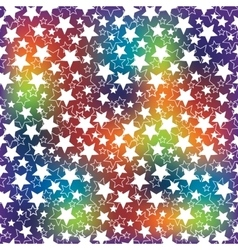 Holiday background the rainbow blur and the stars vector