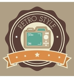 Photography and camera retro-vintage design vector
