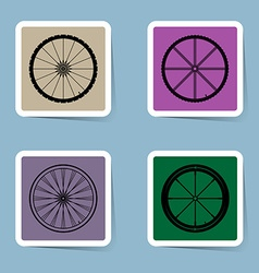 Bicycle wheel icon set vector