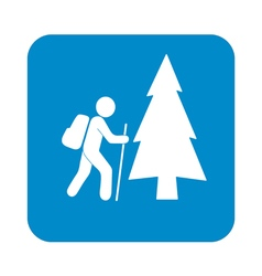 Forest tourist icon vector