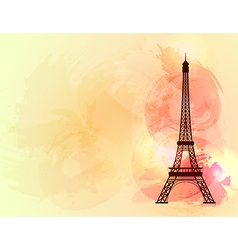 Eiffel tower background vector