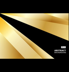 abstract striped graphic gold and black color vector image vector image