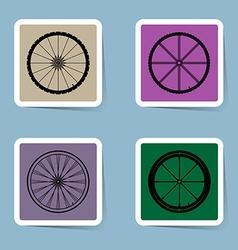 Bicycle wheel icon set vector