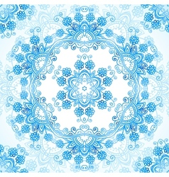 Blue ornate lacy seamless pattern vector image vector image