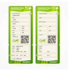Boarding pass ticket set vector