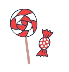 Cake candy pops icons vector image