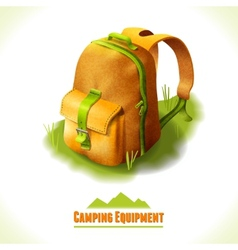 Camping symbol backpack vector
