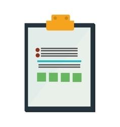clipboard check list icon design vector image vector image