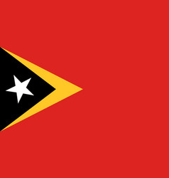 Colored flag of east timor vector