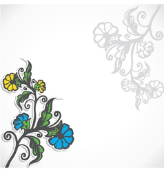 creative retro flower stock vector image vector image