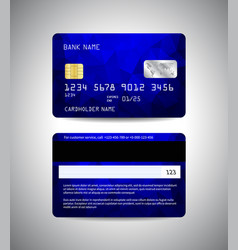 credit cards set with colorful blue design vector image vector image