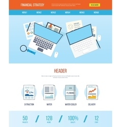 Design template with icons of financial strategy vector image