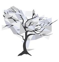 Diamond christal tree vector