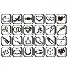 fashion symbols vector image vector image