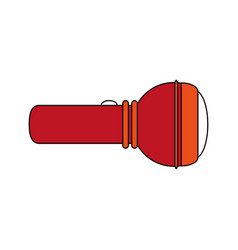 flashlight emergency device vector image vector image
