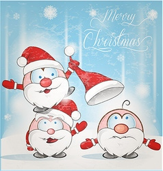 fun santa claus cartoon vector image