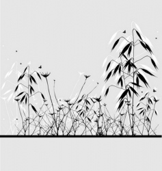 Grass oats silhouette vector