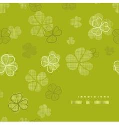 Green clover textile texture frame corner pattern vector