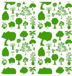 Green seamless template vector