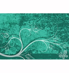 Grungy turquoise card vector