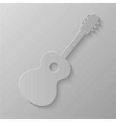 Guitar Silhouette vector image vector image