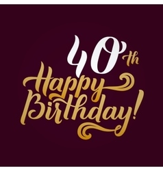 Happy birthday calligraphic background elegant vector