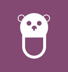 icon on background teddy bear bib vector image vector image