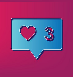 Like and comment sign blue 3d printed vector