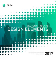 Modern abstract geometry background for investment vector