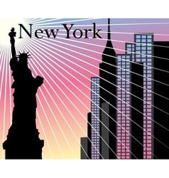 new york skyscrapers background vector image