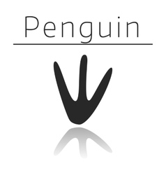 Penguin animal track vector