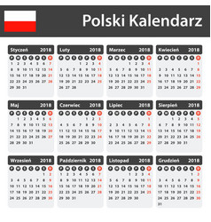 Polish calendar for 2018 scheduler agenda or vector
